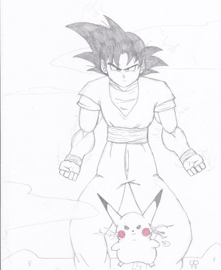 Goku and Pikachu